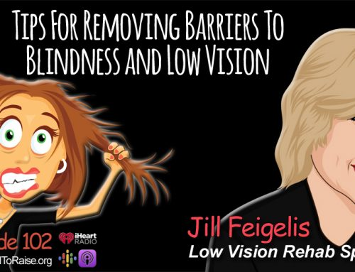 Tips to Remove the Barriers of Low Vision.   Low Vision Rehab Specialist, Jill Feigelis – Episode #102